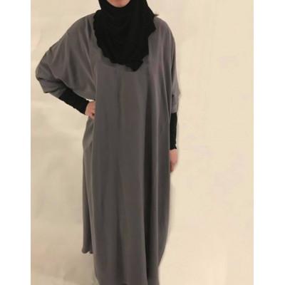 Abaya-Jilbab-Gris