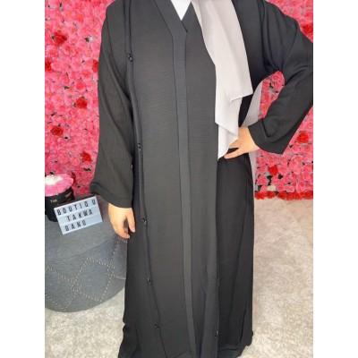 Abaya-kimono-noir