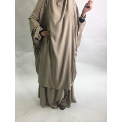 Jilbab-Manassik-jupe-Beige