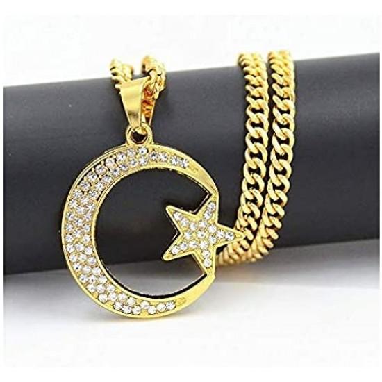 Etoile lune islamique en bracelet