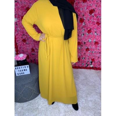 abaya-mousseline-jaune