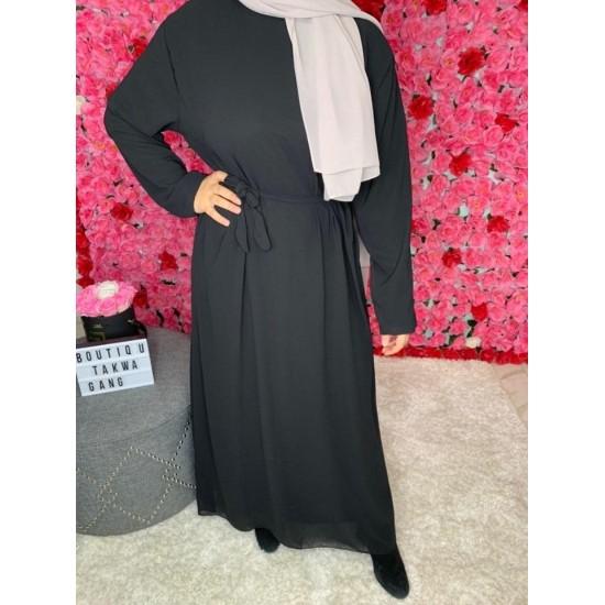 Abaya-mousseline-noir