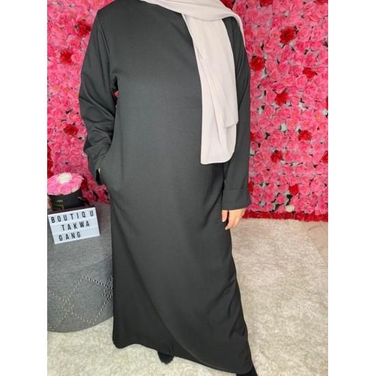 Abaya-noir-simple