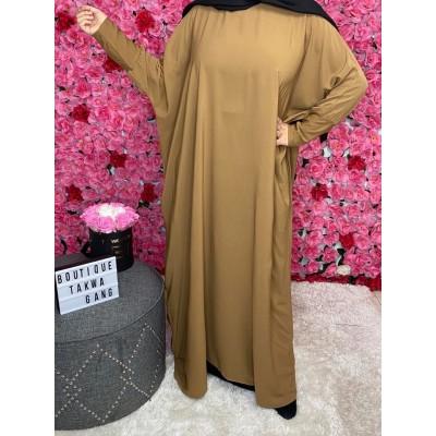 abaya-papillon-camel
