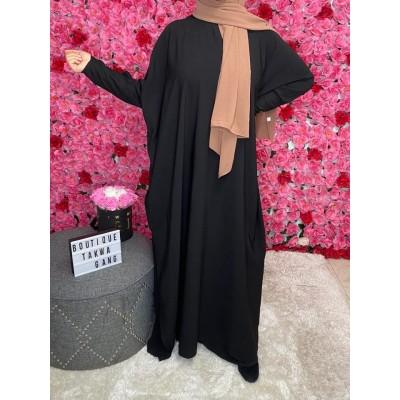 abaya papillon noir