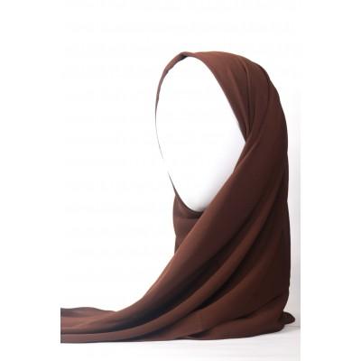 Chocolate Brown Chiffon