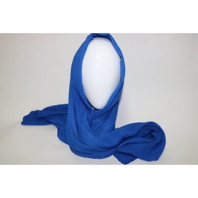 Foulard Bleu royal plisse