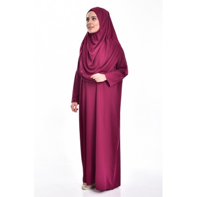 Prayer dress burgundy