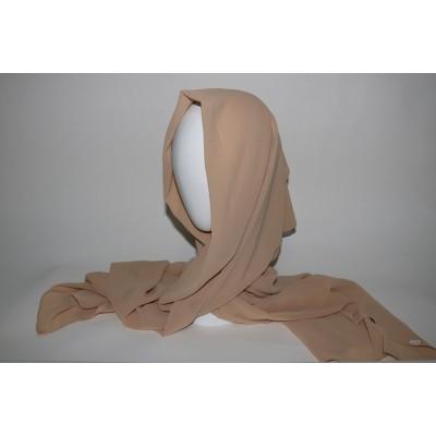 hijab chiffon beige