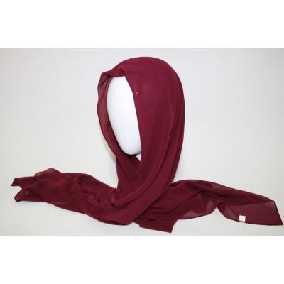 hijab chiffon bordeaux