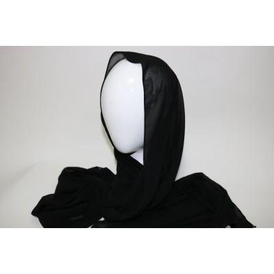 hijab chiffon noir