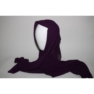 hijab chiffon prune
