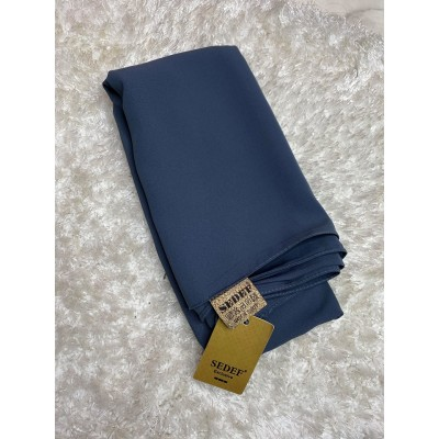 Denim Blue Chiffon Silk Hijab
