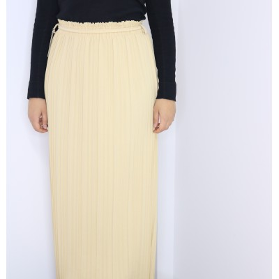 jupe-plisse-beige