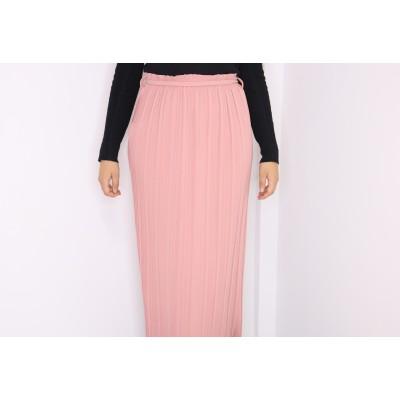 jupe-plisse-rose-bonbon
