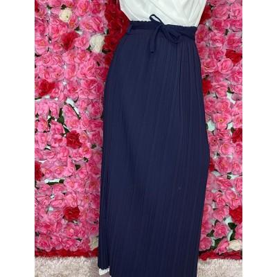 jupe-plisse-bleu