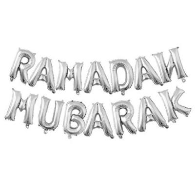 Ramadan-mubarak-Silver-Balloon