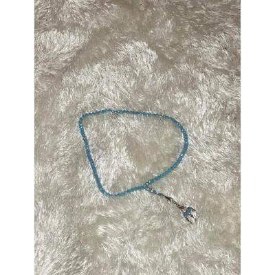 Tasbih crystaux bleu